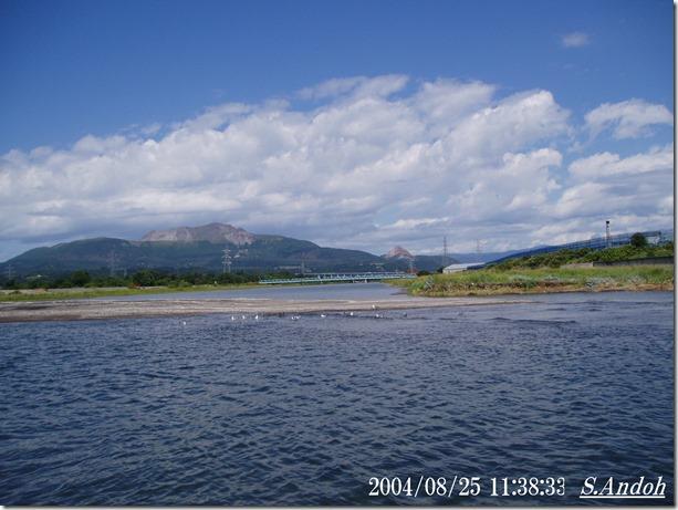 2長流川 海に伸びる砂州