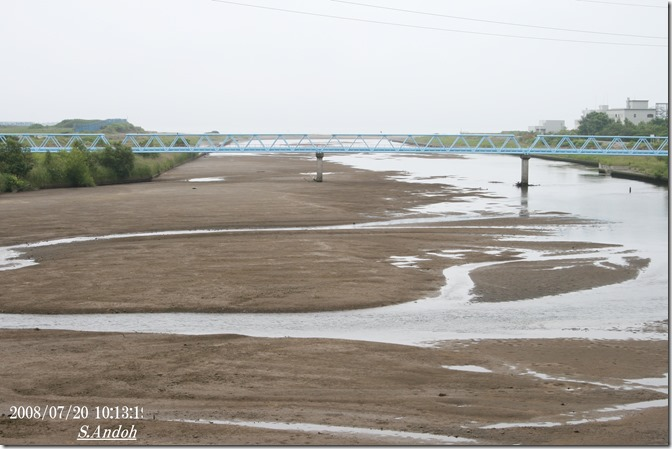 7干潮時に河口方面