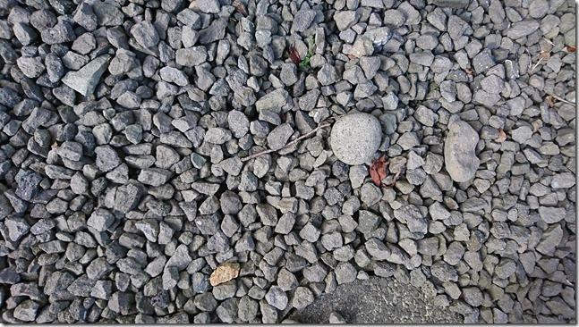 9砕石された安山岩