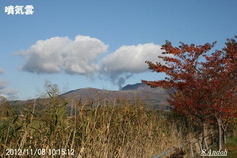 噴気雲 有珠山.JPG