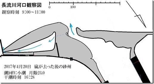 80長流川河口観察図